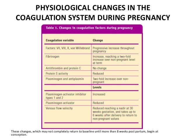 Venous thromboembolism of pregnancy
