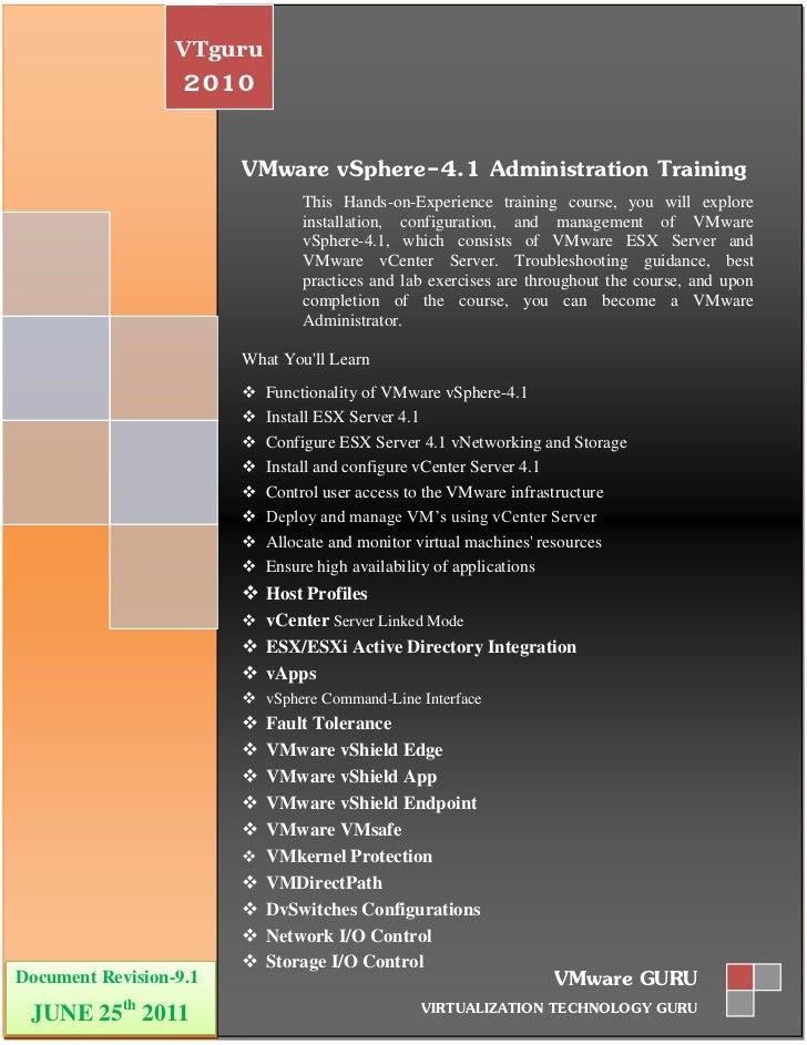 VTguru                   2010                        VMware vSphere-4.1 Administration Training                           ...