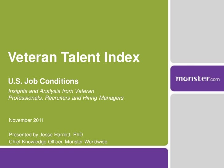 Veteran Talent IndexU.S. Job ConditionsInsights and Analysis from VeteranProfessionals, Recruiters and Hiring ManagersNove...