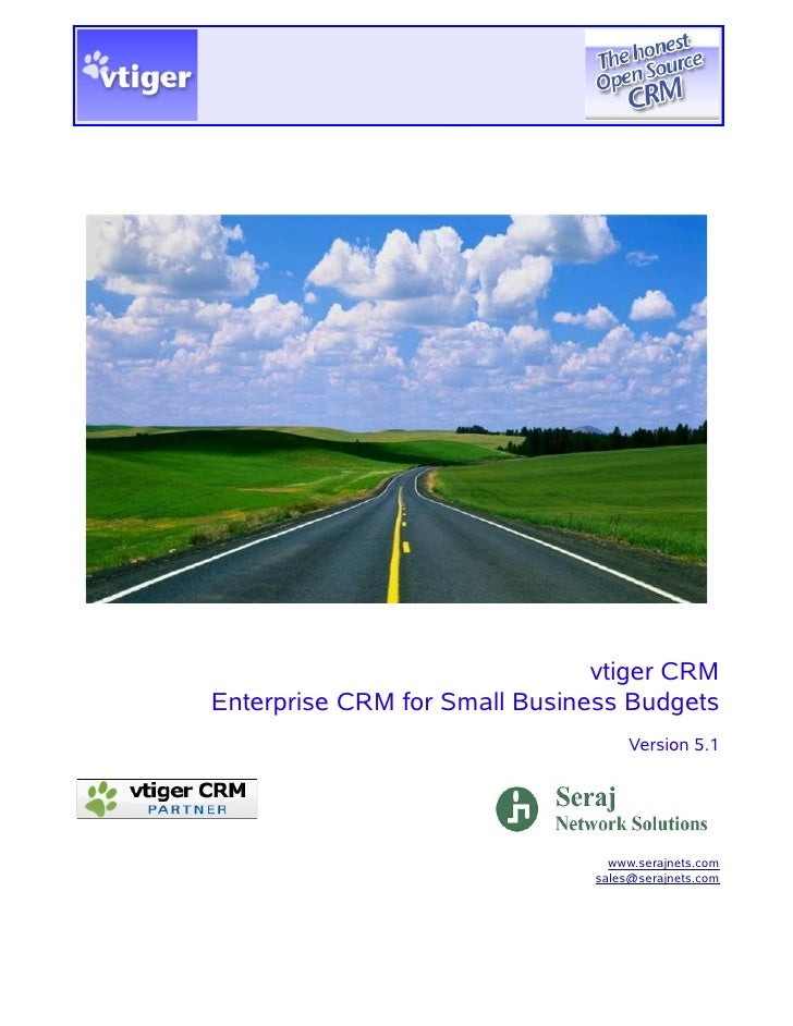 vtiger CRMEnterprise CRM for Small Business Budgets                                   Version 5.1                         ...