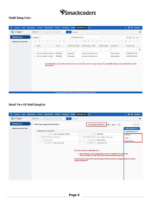 VTiger MailChimp Integration
