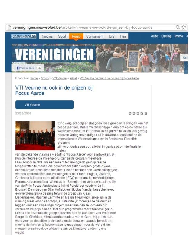 Vti veurne nu ook in de prijzen bij focus aarde   verenigingen nieuwsblad
