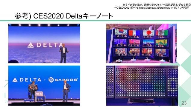 参考) CES2020 Deltaキーノート 23 あるべき姿を描き、最適なテクノロジー活用が進むデルタ航空  -CES2020レポート5 https://iotnews.jp/archives/144777 より引用