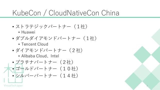 KubeCon China & MWC Shangai 出張報告 Slide 2