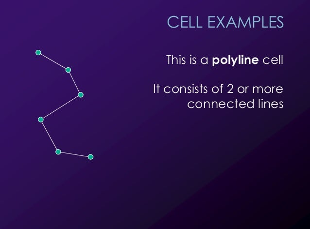 8 CELL EXAMPLES This is a polyline cell It consists of 2 or more connected lines