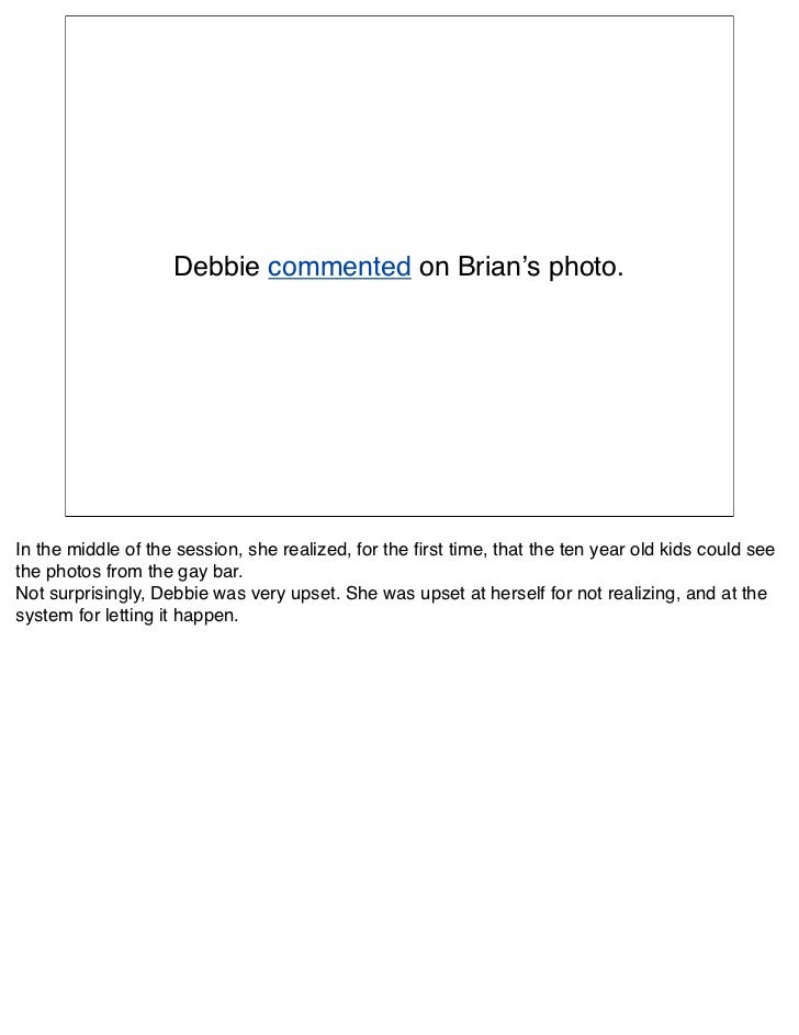 Debbie commented on Brian's photo.     In the middle of the session, she realized, for the first time, that the ten year ol...