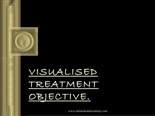 VISUALISED TREATMENT OBJECTIVE. www.indiandentalacademy.com