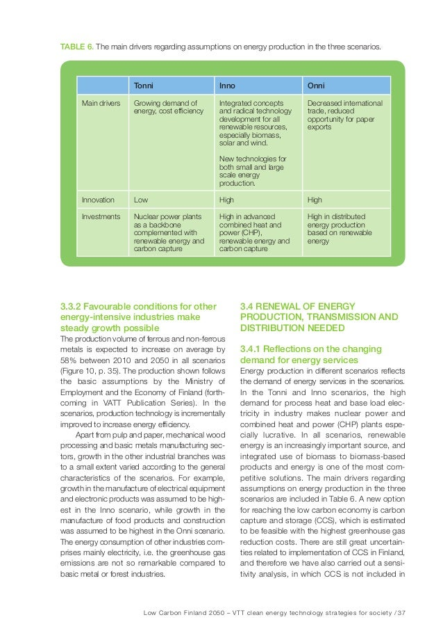 Low Carbon Finland 2050 – VTT clean energy technology strategies for society / 43 improvements will be included in the fin...