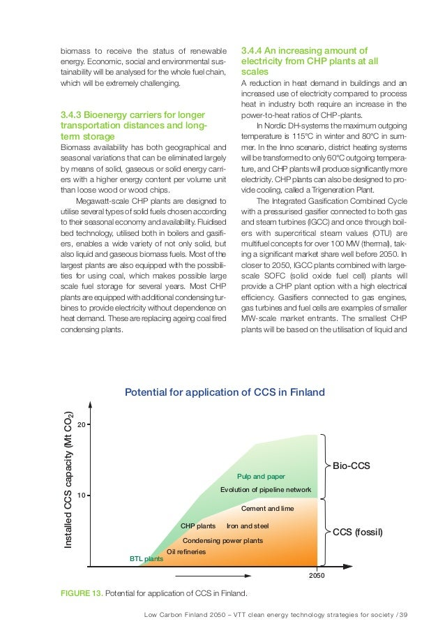 Low Carbon Finland 2050 – VTT clean energy technology strategies for society / 45 4 Scenarios – pathways to an 80% emissio...