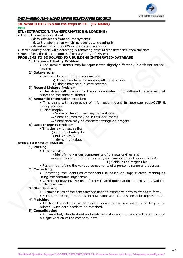 data warehousing and data mining notes pdf