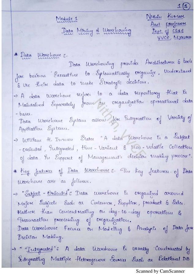 Vtu Data Mining-15CS651 notes by Nithin vvce,mysuru