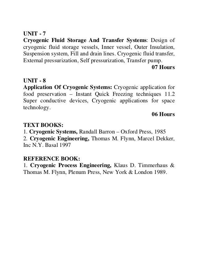 Vtu Cryogenics Syllabus