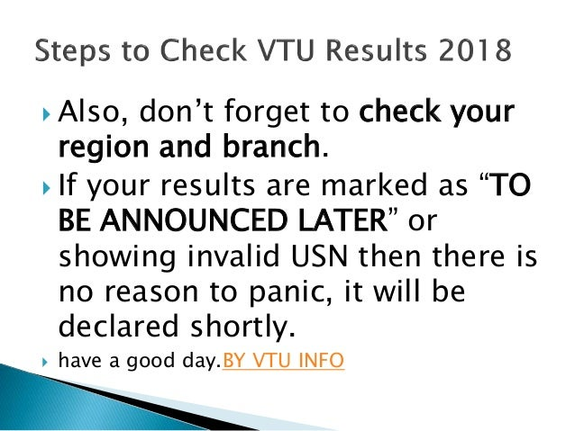Vtu results by vtu info 2