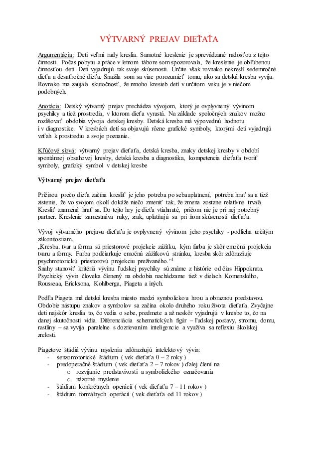 Zaverecny Ukol Kpi 2012 Vytvarny Prejav Dietata