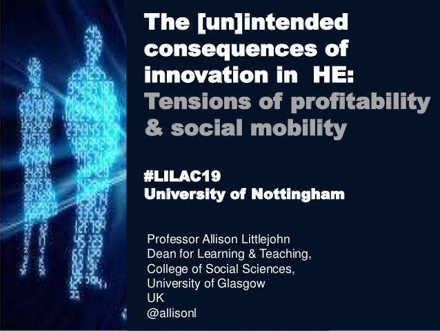 Professor Allison Littlejohn Dean for Learning & Teaching, College of Social Sciences, University of Glasgow UK @allisonl ...
