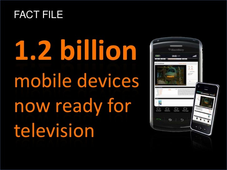FACT FILE1.2 billionmobile devicesnow ready fortelevision