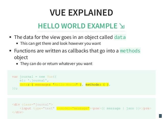 Why Vue js?