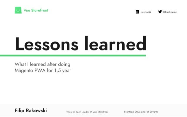 What we have learned after 1,5 years of doing Progressive Web App for eCommerce #MM18NYC