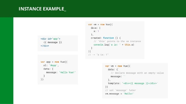 INSTANCE EXAMPLE_