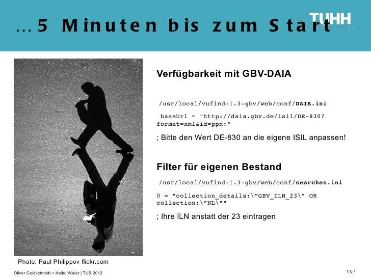 … 5 M in u t e n b is z u m S t a r t                                              Verfügbarkeit mit GBV-DAIA             ...