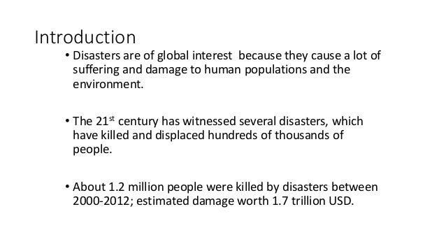 essay about disaster awareness preparedness and management