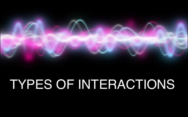 """"""" TYPES OF INTERACTIONS"""