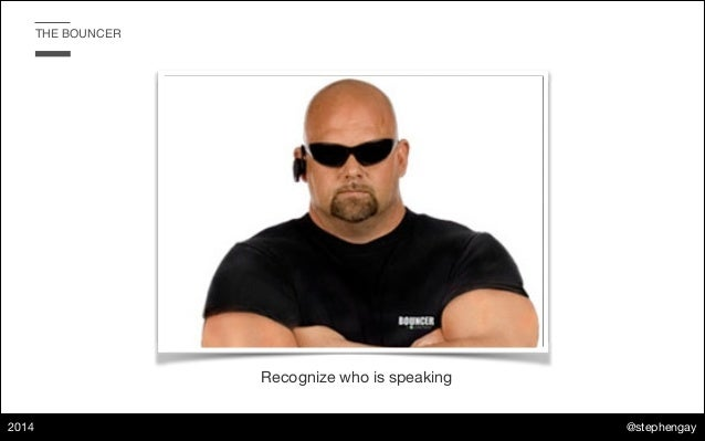 @stephengay 2014 THE BOUNCER Recognize who is speaking