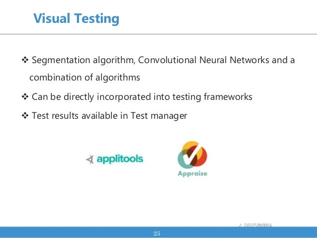  Segmentation algorithm, Convolutional Neural Networks and a combination of algorithms  Can be directly incorporated int...