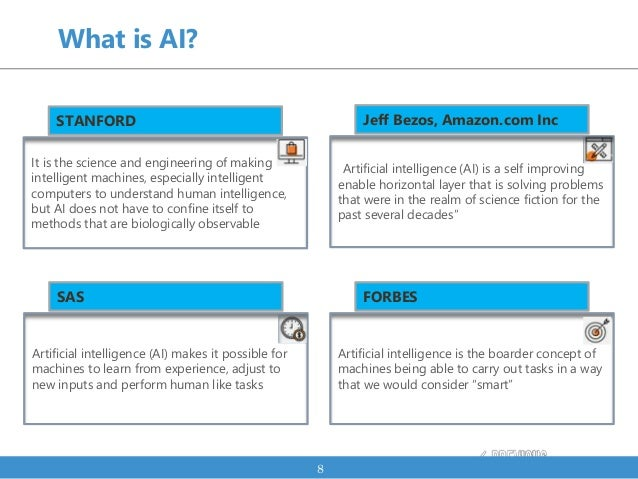 What is AI? 8 It is the science and engineering of making intelligent machines, especially intelligent computers to unders...