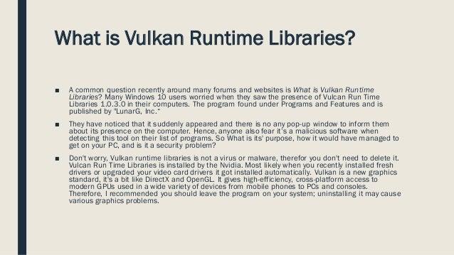 vulcan run time libraries