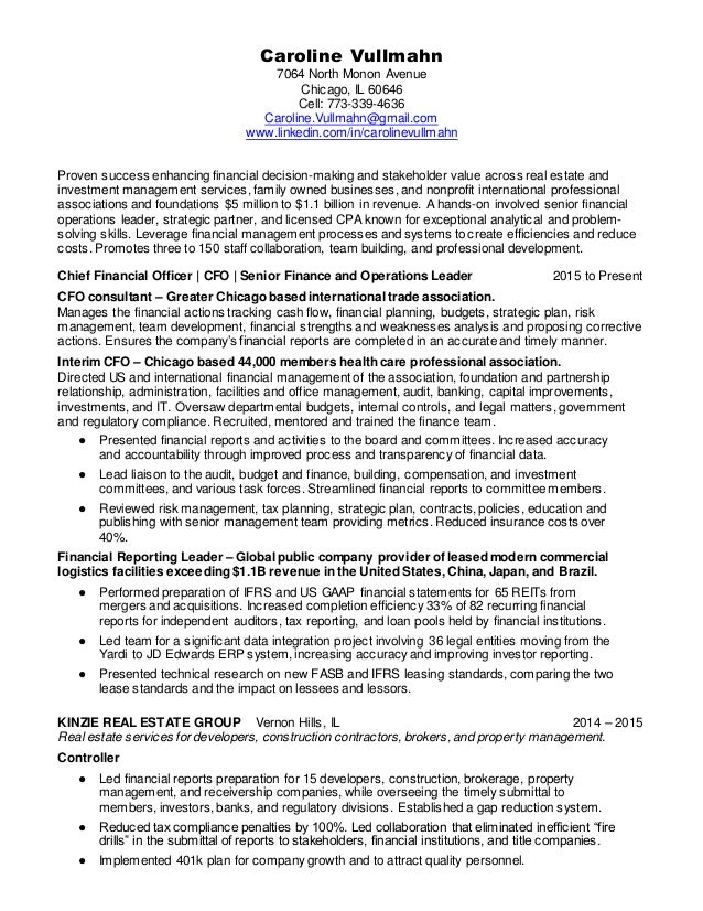 caroline-vullmahn-chief-financial-officer-cfo-cpa-resume-1-638 Officer Performance Report Examples on navy investigating, writing sample for police, daily activity, example correctional, scheduling screenshots, neighborhood resource, printable daily, taking incident,