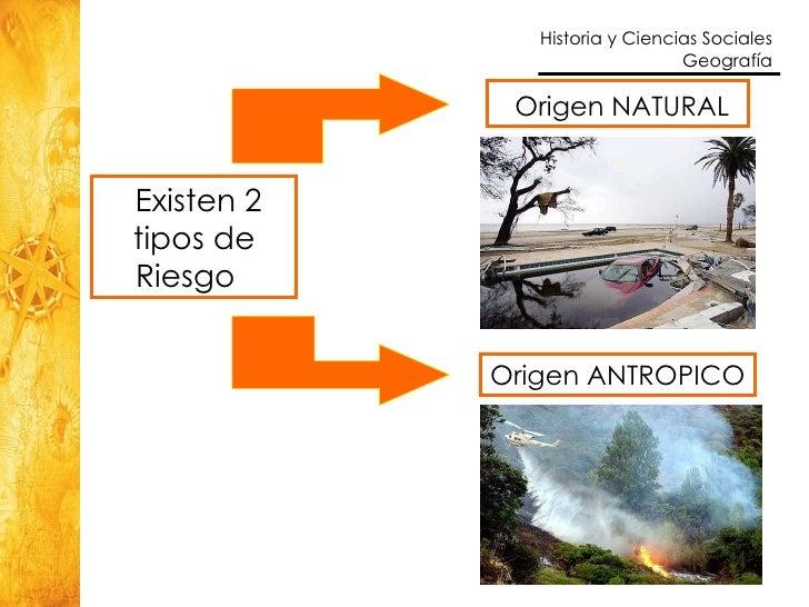 Resultado de imagen para tipos de riesgo naturales y antropicos