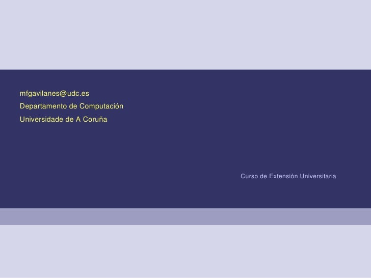 25dexuñode2008 FerramentasdeseguridadeenGNU/Linux CursodeExtensiónUniversitaria MilagrosFernándezGavilanes mf...