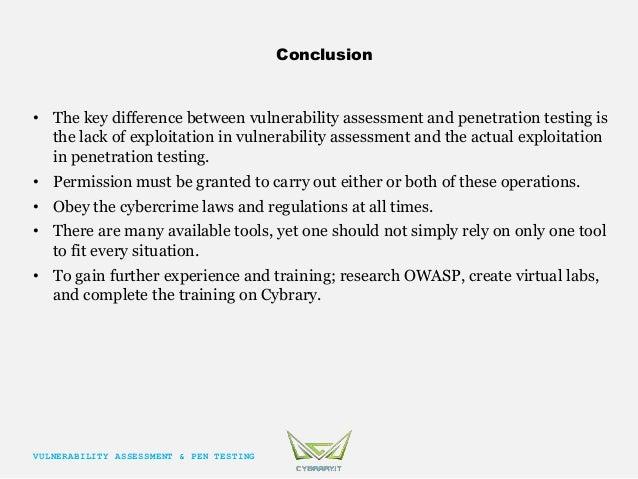 conclusion of penetration test