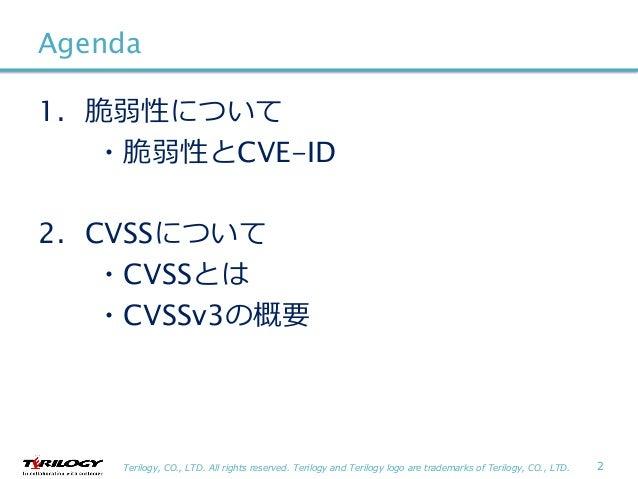 脆弱性とCVE-ID、CVSS、CVSSv3の概要 Slide 2