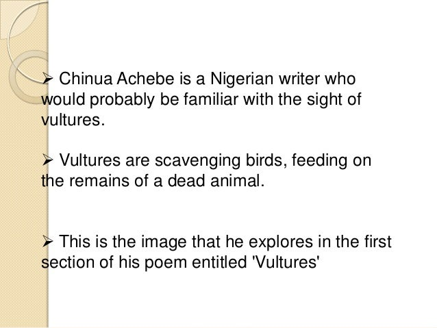 vultures poem summary