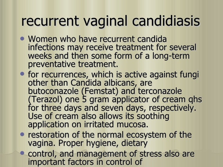 Infection recurring vaginal