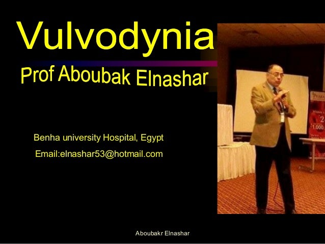 Benha university Hospital, Egypt  Email:elnashar53@hotmail.com  Aboubakr Elnashar