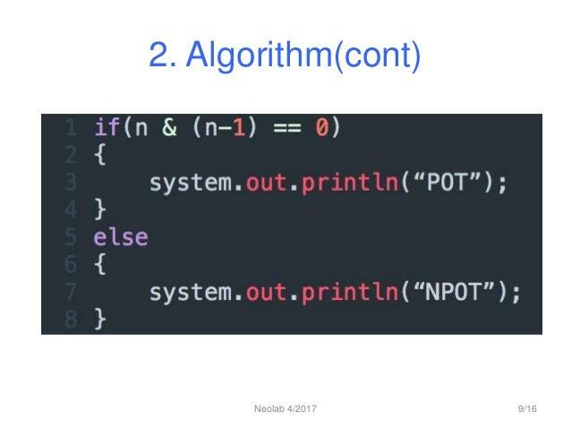 2. Algorithm(cont) Neolab 4/2017 9/16