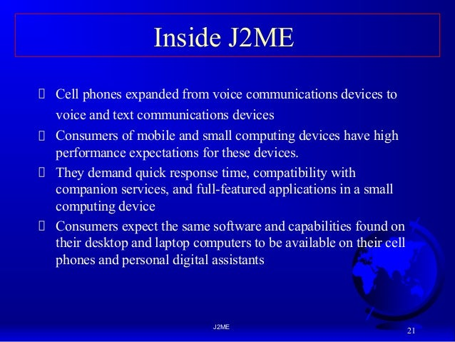 Mobile Application Development MAD J2ME