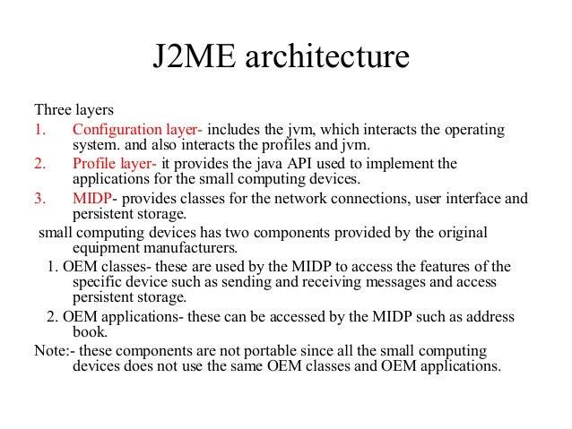 Mobile Application Development MAD J2ME UNIT 2