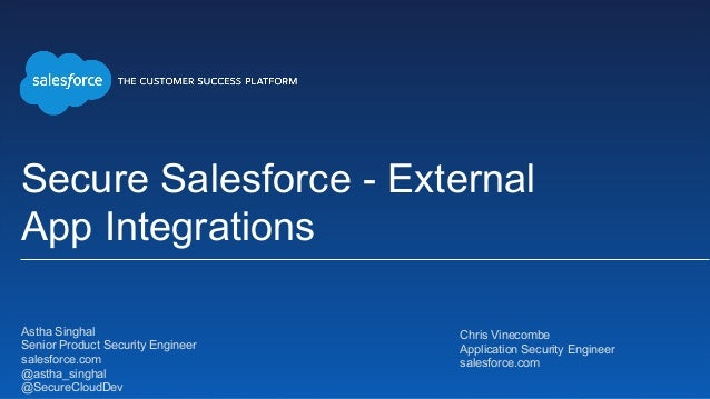 Secure Salesforce: External App Integrations