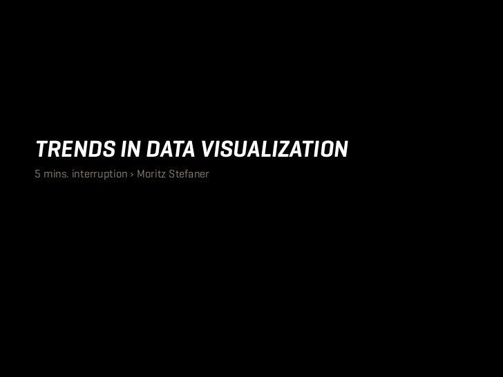 TRENDS IN DATA VISUALIZATION5 mins. interruption › Moritz Stefaner