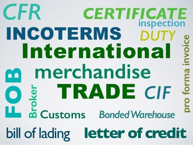 English Vocabulary for International Trade Slide 3