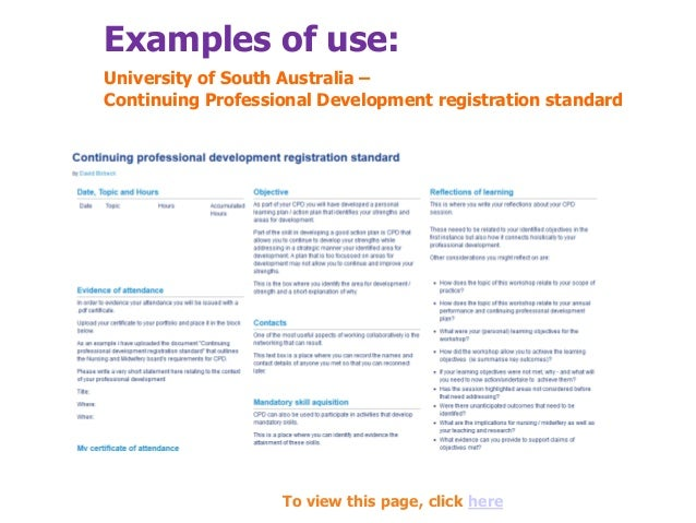 cpd sample A minimum of two cpd records must be planned and a maximum of two  the  gphc has created a range of different example cpd records for.