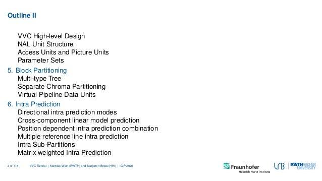 VVC tutorial at ICIP 2020 together with Benjamin Bross Slide 3