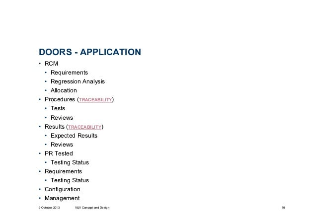 DOORS - APPLICATION ...  sc 1 st  SlideShare & Validation and Verification using Rational DOORS for Aerospace