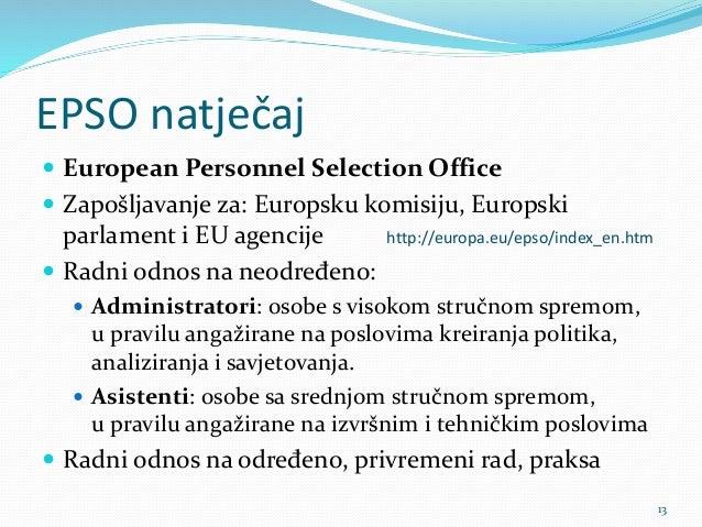 Imate li kompetencije koje se tra e u eu - European personnel selection office epso ...