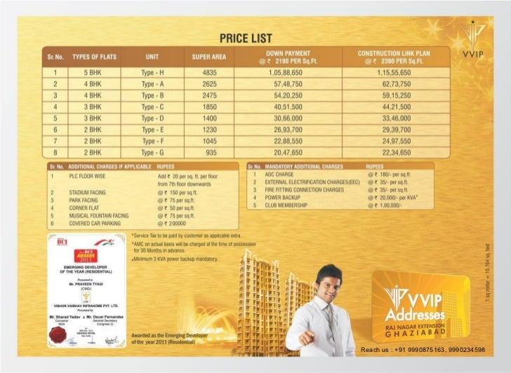 Vvip price list Go to : www.Flats4free.com
