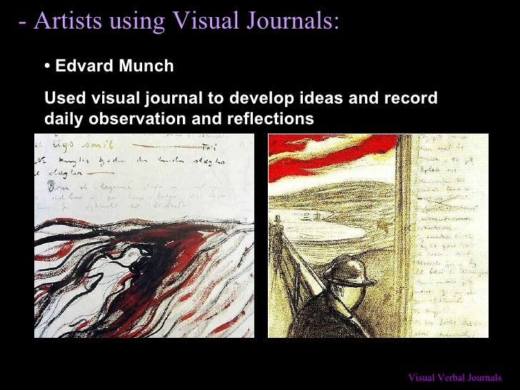 •   Edvard Munch Used visual journal to develop ideas and record daily observation and reflections - Artists using Visual ...